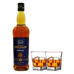 40°西亚特圆瓶威士忌洋酒700ml*1瓶+洋酒杯*2