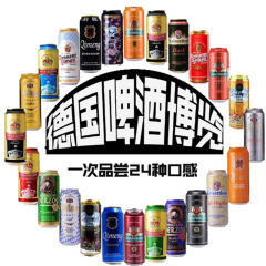 德国进口啤酒混合装500ml(24听装)
