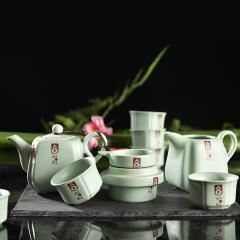 汝窑精美十件套茶具