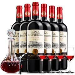 醉梦红酒法国原瓶进口梦诺干红葡萄酒6支整箱送醒酒器