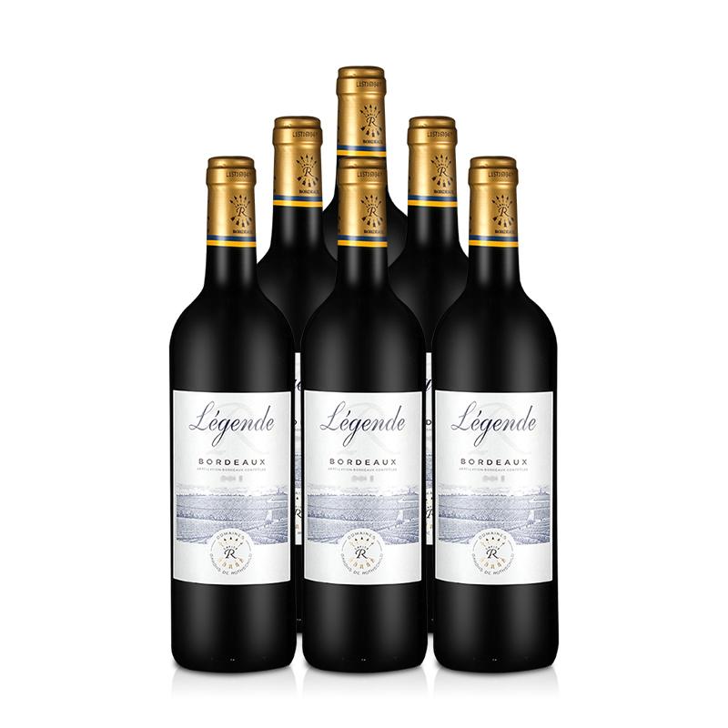 拉菲传奇波尔多2010_拉菲酒 法国红酒整箱拉菲传奇波尔多法定产区红葡萄酒750ml(ASC ...