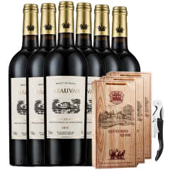 法国.博维干红葡萄酒原瓶进口750ml送礼袋送海马刀(6只装)