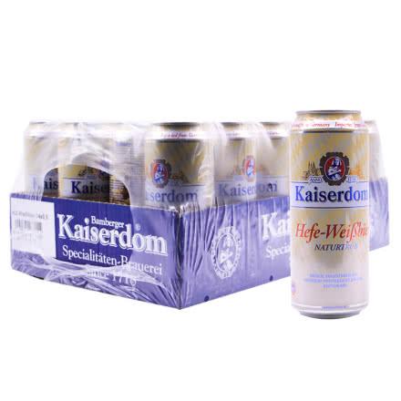 德国进口kaiserwin凯撒白啤酒500ml(24瓶装)