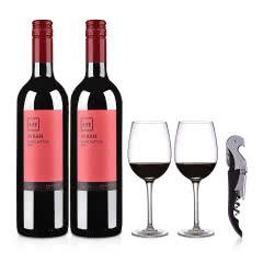 智利红酒SITE精选西拉红葡萄酒750ml(双瓶装礼包)