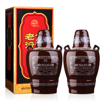 53°10年老白汾酒475ml(双瓶装)