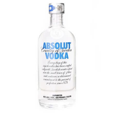 40°瑞典伏特加 绝对伏特加(Absolut Vodka) 原味