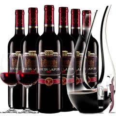 路易拉菲2008珍酿进口红酒特选干红葡萄酒红酒整箱U型醒酒器装750ml*6