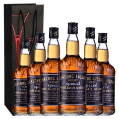 40°狮王威士忌洋酒700ml*6瓶装+礼袋*3