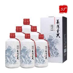 53°肆拾玖坊茅台镇酱香型白酒礼盒装义薄云天500ml(6瓶装)
