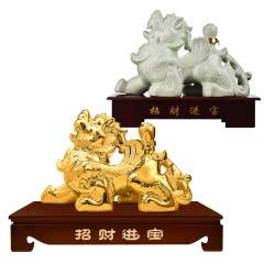 53°汾酒集团招财貔貅(金)2000ml+53°汾酒集团招财貔貅2000ml