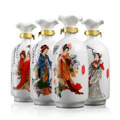 52°白水杜康蓝韵国宴(四大美人)升级版1000ml*4瓶(2015年)