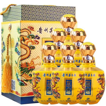 52°茅台镇世家百年老坛浓香型小坛白酒500ml (6瓶装)礼盒送礼酒