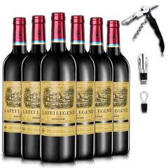 法国原瓶进口拉菲传奇爱丽丝干红葡萄酒红酒750ml*6