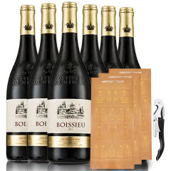 法国.原瓶进口AOC级博塞尔干红葡萄酒红酒送礼袋送海马刀750ml* 6