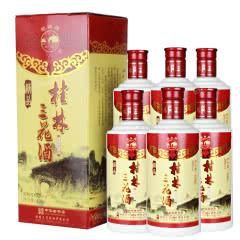 52°桂林特产精品瓷瓶三花酒米香型白酒450ml(6瓶装)