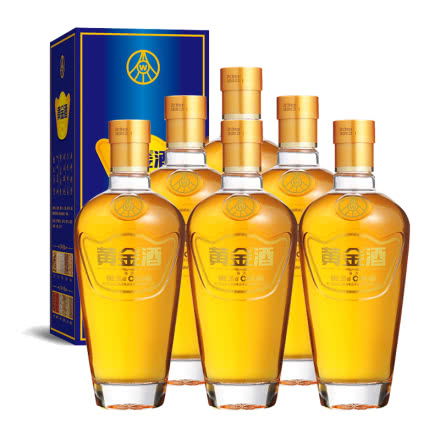 39°五粮液黄金酒万福单支480ml(6瓶装)