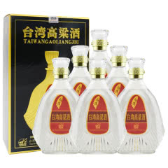 【台湾高粱酒特卖】58°台湾高粱酒窖藏礼盒 传统台湾风味 清香型白酒600ml(6瓶装)