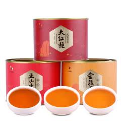 八马茶业 金骏眉 正山小种 大红袍茶叶小罐装茶组合240克 ZH004