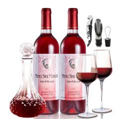 名仕之风罗纳德天使之恋甜红葡萄酒750ml*2支 国产好酒 山东烟台直产