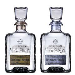 进口洋酒 俄罗斯沙皇伏特加鸡尾酒基酒 沙皇金标银标双支组合装