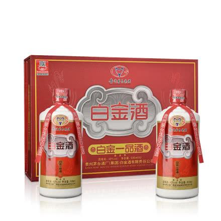 43°白金一品酒礼盒500ml*2