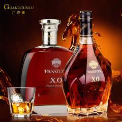 派斯顿原酒XO白兰地洋酒套餐组合1000ml*2 重型瓶身礼盒装