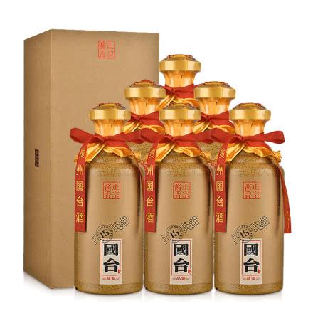 (買1箱送1箱)53°國臺·品鑒15 500ml(6瓶裝)
