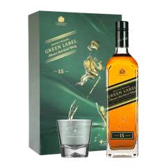 43°尊尼获加绿牌15年礼盒装调配型威士忌750mL