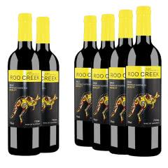 澳大利亚进口米爵袋鼠美乐干红葡萄酒750ml(6瓶装)