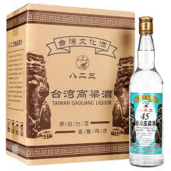 45°台湾高粱白酒600ml 整箱6瓶 明水堂八二三中度粮食酒 家常酒