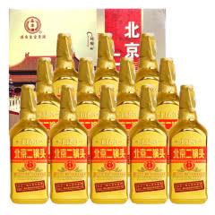 46°北京永丰牌二锅头出口型小方瓶金瓶500ml(12瓶装)白酒整箱