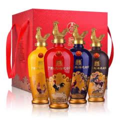 52°五粮液股份丁酉鸡年生肖纪念酒礼盒500ml*4瓶五粮液股份出品,鸡年纪念酒礼盒!