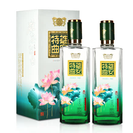 52°百年保定雄安特曲酒·荷塘500ml (双瓶装)