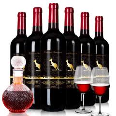 智利原酒进口兰卡袋鼠红酒干红葡萄酒750ml*6瓶整箱