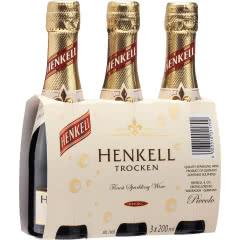 德国原装进口汉凯特罗肯起泡酒200ml 三支装