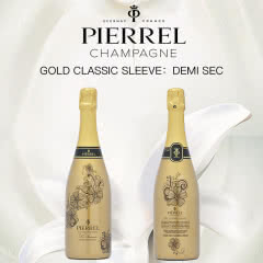 Champagne Pierrel DemiSec Gold classic sleeve