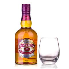 40°英国芝华士12年苏格兰威士忌500ml+洋酒杯