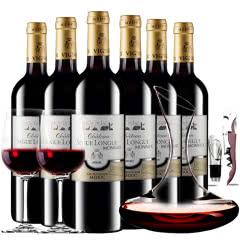 【中级庄】法国原瓶进口红酒梅多克史嘉隆庄园干红葡萄酒红酒整箱醒酒器装750ml*6
