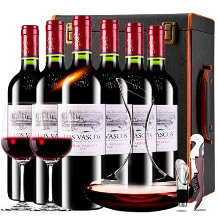 【ASC行货】法国原瓶进口红酒拉菲巴斯克珍藏干红葡萄酒红酒整箱红酒礼盒装750ml*6