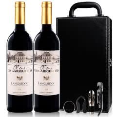 法国AOC红酒 原瓶进口 朗格多克歌瑞特干红葡萄酒750ml(2瓶装)