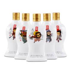 45°唐朝老窖  五小将白酒100ml*5瓶  浓香型 穿越系青春小酒