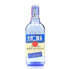 【京东配送】42°永丰牌北京二锅头出口型小方瓶蓝瓶500ml纯粮清香白酒