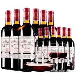 拉斐庄园2009珍酿原酒进口红酒珍藏干红葡萄酒红酒整箱12支醒酒器装750ml*12