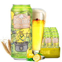 德国进口啤酒艾斯宝柠檬拉德乐啤酒精酿啤酒500ml(24听装)