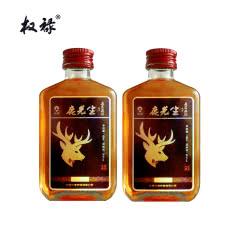 38°权禄鹿先生梅花鹿人参鹿茸血酒100ml(2瓶装)