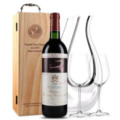 法国原瓶进口红酒 波亚克产区 木桐古堡干红葡萄酒 1990年 木桐正牌 单支  750ml
