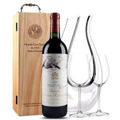 法国原瓶进口红酒 波亚克产区 木桐古堡干红葡萄酒 1996年 木桐正牌 单支 750ml