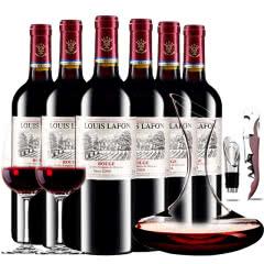 路易拉菲2009王子干红葡萄酒红酒整箱斜口醒酒器装750ml*6
