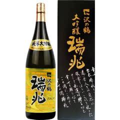 日本进口 泽之鹤 瑞兆纯米大吟酿 1.8L礼品盒