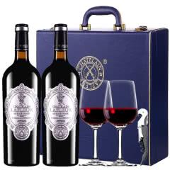 法国原瓶进口红酒拉斐天使酒园干红葡萄酒双支红酒礼盒装750ml*2